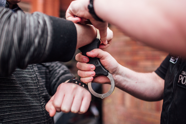 Male Officer Arrest Compliant Handcuffs Police.png